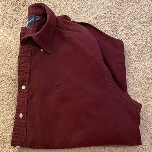 Polo Ralph Lauren Maroon Button-Up Shirt - XL